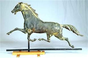 C/1880 Copper And Iron Horse Weathervane