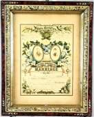 Dated 1882 Chromolitho Marriage Certificate