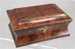 Early 19th C. Mahogany Jewelry Box