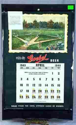 1949 Goebel Beer Baseball Calendar