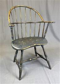 Painted Sack Back Windsor Chair, American 18th C.