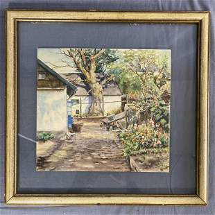Duchess Olga Alexandrovna Watercolor 1882-1960 REO
