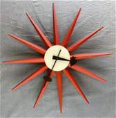 George Nelson Red Sunburst Clock Vitra Museum