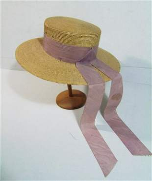 Mid 20th C. Italian Ladies Gardening Hat