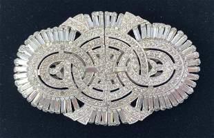 Art Deco Large Duette Brooch