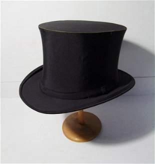 C/1900 Black Silk Theatre Collapsible Top Hat