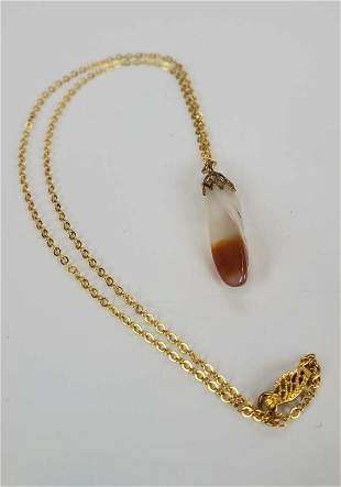 Women's Necklace Agate With 12KTGF Chain