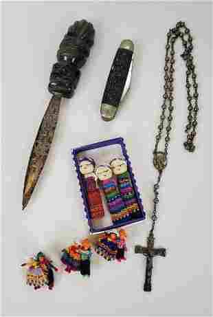 Lot Of Sterling Silver Rosary • Letter Opener Plus