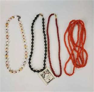 Women's Coral•Jade•Jasper Stone beaded Necklace's