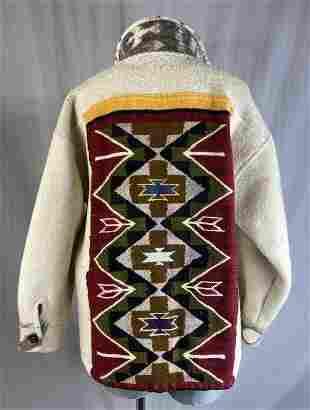 Vintage Chimayo Blanket Coat Circa 1950s