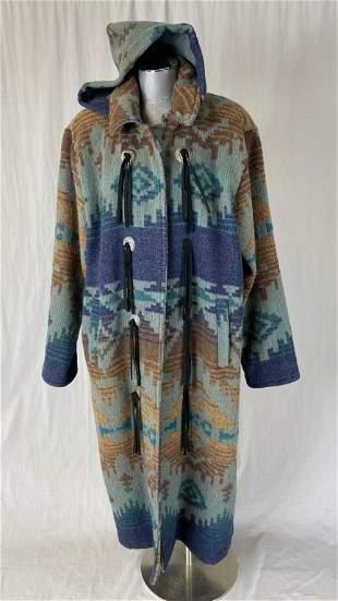 Vintage Woolrich Navajo Blanket Coat Size L