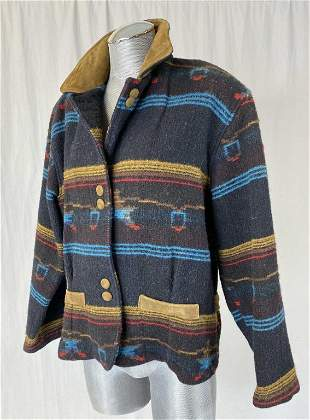Vintage Woolrich Wool Navajo Blanket Jacket M