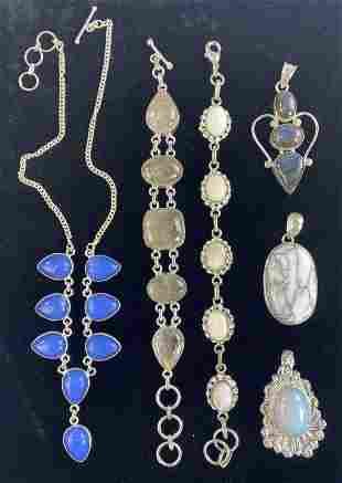 Handcrafted Sterling Necklace, Bracelets, Pendants