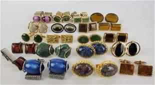 Vintage Men's Natural Stones Cufflinks