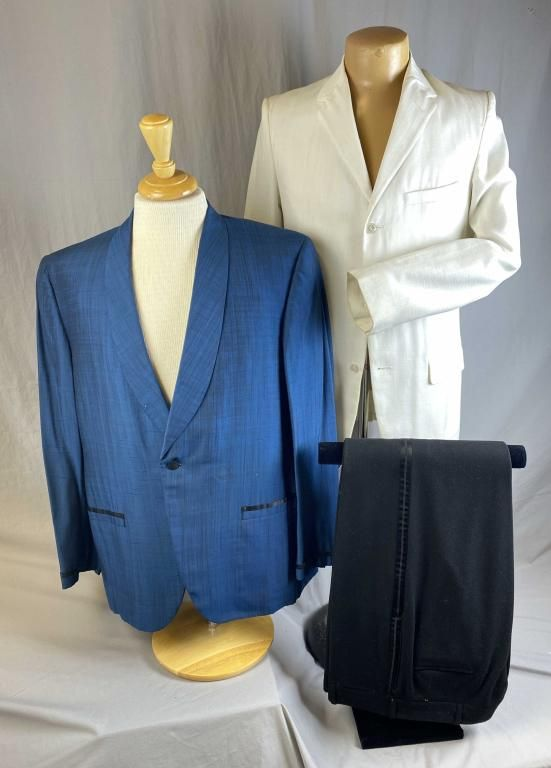 Two 1960s Dinner Jackets and Black Tux Pants