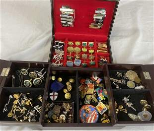 One Gentleman's Vintage Collection of Jewelry