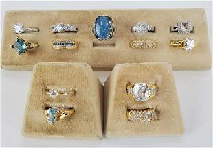Lot of 13 Women's Cocktail Rings