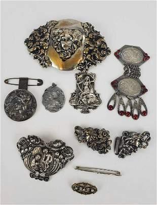 Art Nouveau Antique Lot Of Jewelry