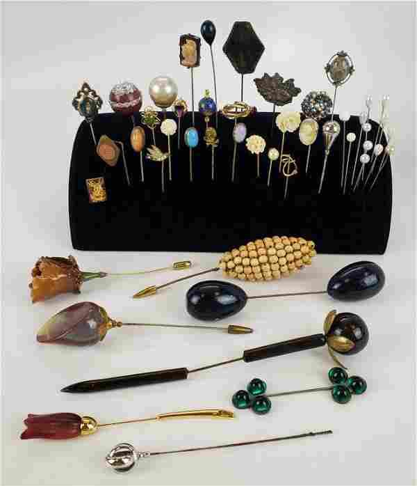 Antique Hat Pins Large Lot