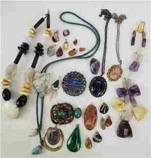 Large Lot Of Natural Stones Jewelry Plus