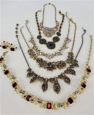 Beautiful Lot Of Rhinestone Necklaces Lot Of 8