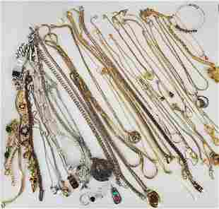 Women's Jewelry Lot Of Necklaces And More