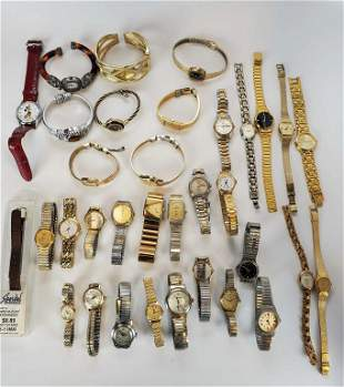 Large Lot Of Women's Watches