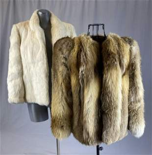Two Vintage Fur Jackets, Silver Fox and Rabbit