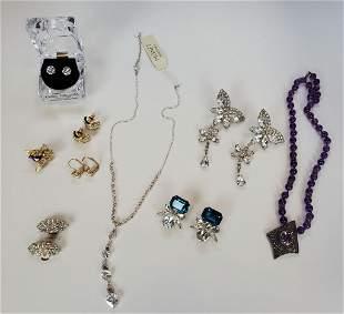 Rhinestone Jewelry Lot Of 9