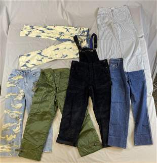 6 Pairs Vintage Style Pants, Military, Jordache...