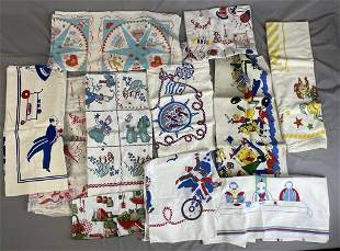 Collection of Vintage Novelty Party Tablecloths