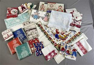 Collection of Vintage Dutch Boy & Girl Linens