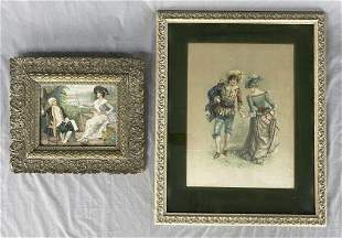 2 Early 20th C. Framed French Prints