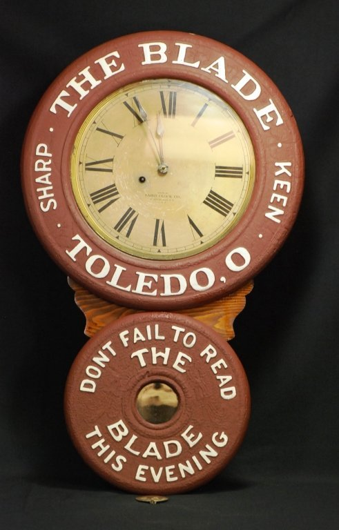 The Blade Toledo, Ohio Figure-8 Advertising Clock