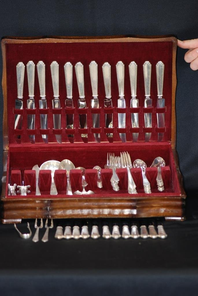 96 Pc Sterling Silver Ware Set Lunt