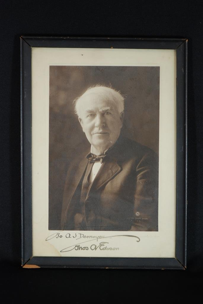 Autographed Thomas Edison Photo