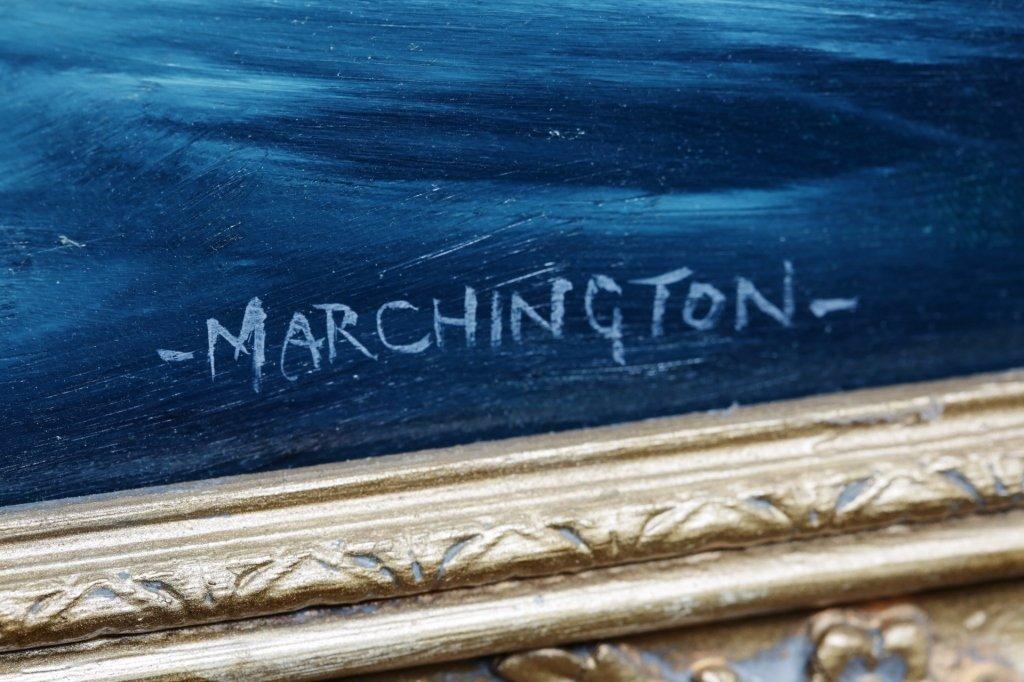 "ORIGINAL ""MARCHINTON"" 24""X36"" OIL PAINTING - 2"