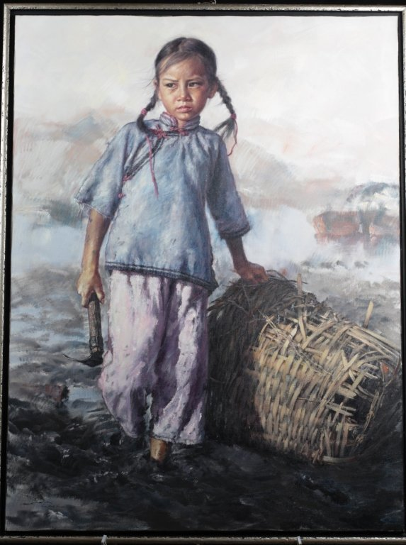 "ORIGINAL  ""WAI  MING"" 36""X48"" OIL PAINTING"
