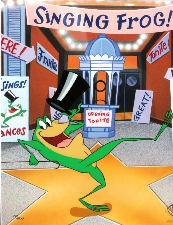 1998 LIMITED ED. MICHIGAN J FROG CEL #397 - 2