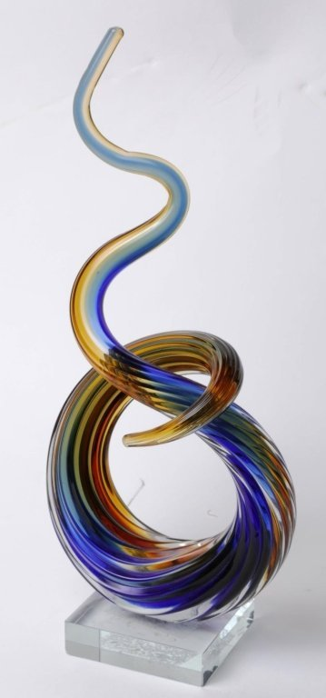"""MURANO ART GLASS SCULPTURE 13"""" Tall by 6"""" by 3"""""""