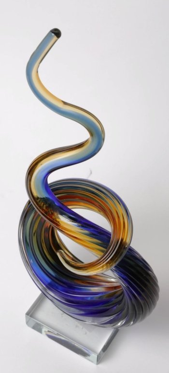 "MURANO ART GLASS SCULPTURE 13"" Tall by 6"" by 3"" - 2"