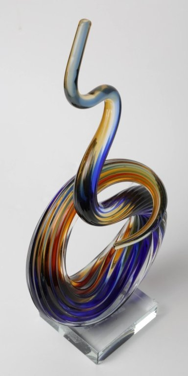"MURANO ART GLASS SCULPTURE 13"" Tall by 6"" by 3"" - 3"