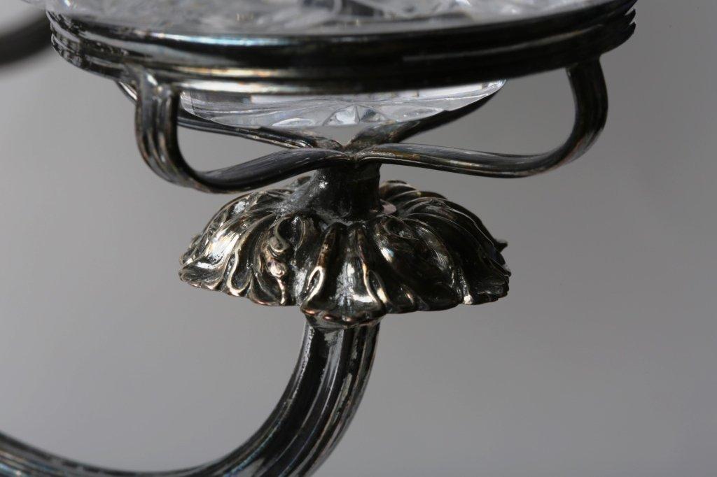 CIRCA 1900 CUT GLASS EPERGNE ANGLO-IRISH GLASS - 8