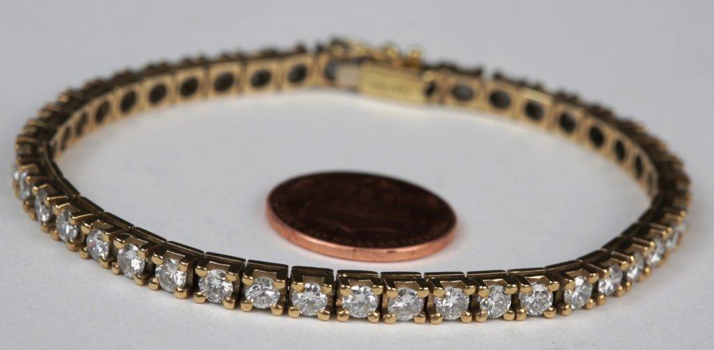 "14k YG 7"" DIAMOND TENNIS BRACELET"