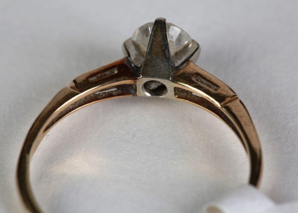 14k YG .65ct SOLITIARE DIAMOND RING - 4
