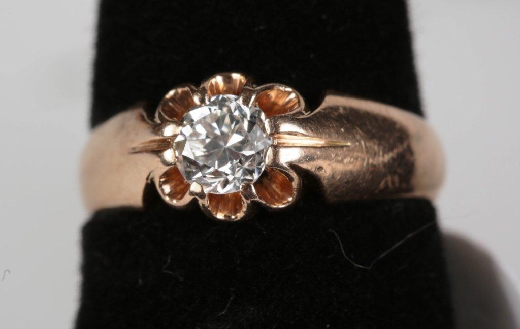 .50ct DIAMOND SOLITIARE RING SET IN 14k ROSE GOLD