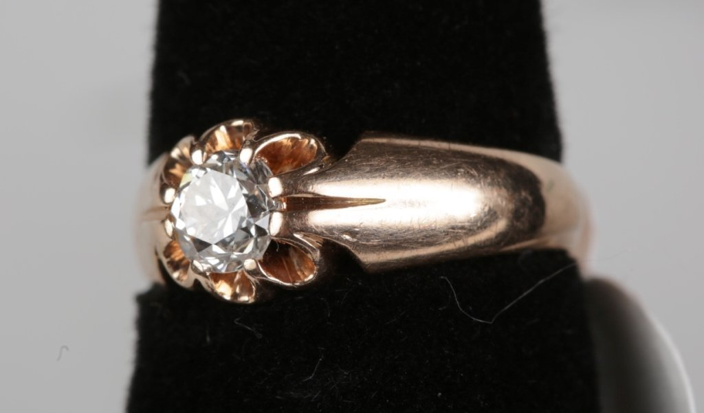 .50ct DIAMOND SOLITIARE RING SET IN 14k ROSE GOLD - 2