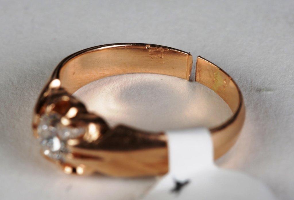 .50ct DIAMOND SOLITIARE RING SET IN 14k ROSE GOLD - 3
