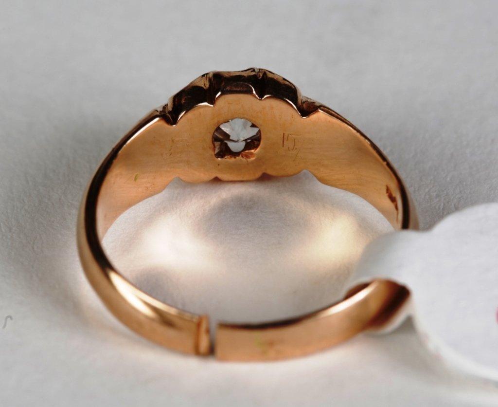 .50ct DIAMOND SOLITIARE RING SET IN 14k ROSE GOLD - 4