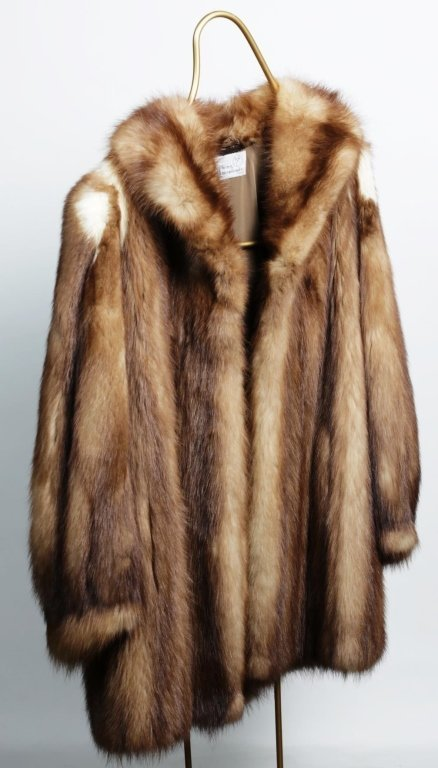 DYED FOX STROLLING LENGTH FUR COAT